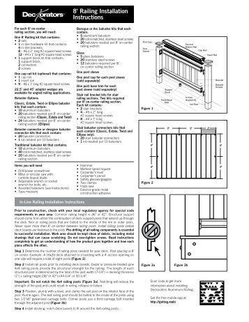 Deckorators CXT 6' Railing Installation Instructions