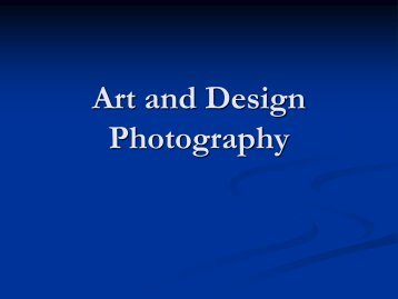 Art and Design Photography