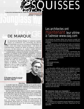 les architectes dupuis dubuc et associés - Ordre des architectes du ...