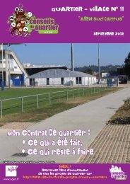 Journal du Quartier-village 11 - Ville d'Agen