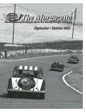 Morgazette Sept-Oct 2011 Issue - Morgan Cars for Sale