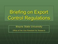 Export Control Handout - Sponsored Program Administration ...