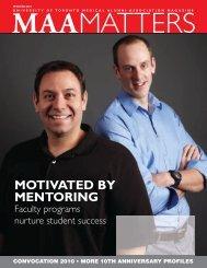 2010 Fall - University of Toronto Medical Alumni Association