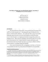 The Politics of Identity and Australian Muslim Students' Associations ...
