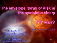Is there an accretion disc, envelope, or torus in YY Her binary?