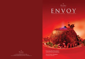 Featuring this November! Novel Festive Hampers - Oberoi Hotels