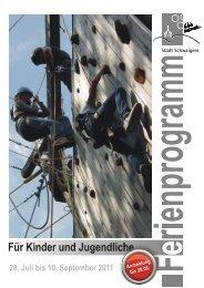 PDF Ferienprogramm 2011 - Stadt Schwaigern