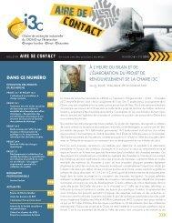 contact aire de - Chaire de recherche industrielle i3c - Université Laval