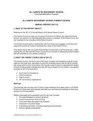 2011-12 - All Saints Secondary School