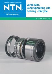 Large Size, Long Operating Life Bearing - EA type - NTN