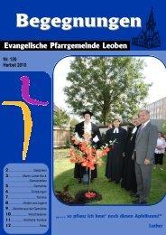 Begegnungen - Evangelische Pfarrgemeinde Leoben