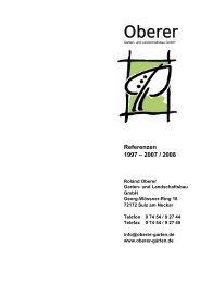 Referenzen 1997 - Oberer Garten - und Landschaftsbau GmbH