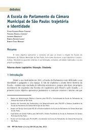A Escola do Parlamento da Câmara Municipal de - Governo do ...
