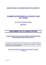 reglement de la consultation - Chambre d'agriculture de l'Ariege