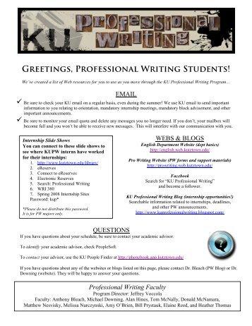Writing Handouts