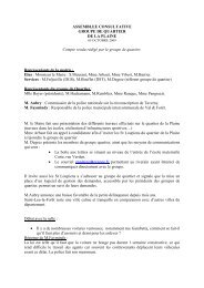 Compte rendu de l'assemblée consultative du 5 octobre 2009
