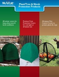 Plant Protection - NuVue Products Inc