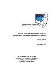 Corporate Form and Organizational Behaviour Open versus Closed ...