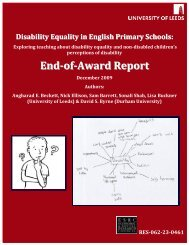 Disability Equality in English Primary Schools Report - Birmingham ...
