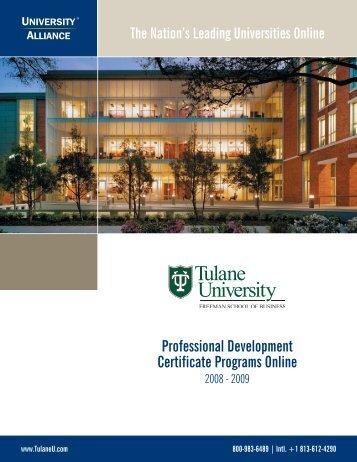 Professional Development Certificate Programs Online
