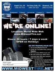 WE'RE ONLINE! - Midwest Tire & Muffler, Inc.