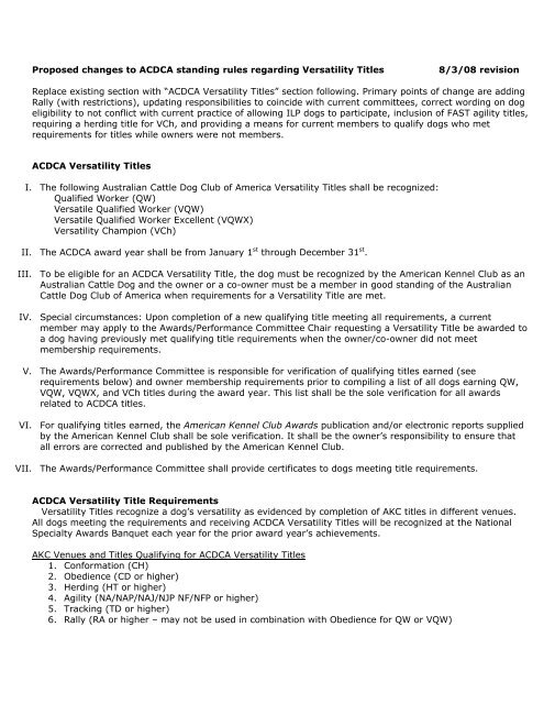 Versatility Competition Rules Revised 10/1/08 - pdf