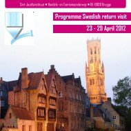 Programme Swedish return visit 23 - 29 April 2012 - Sint ...