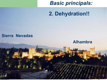 Basic principals: 2. Dehydration!!