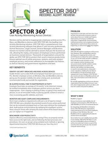 SPECTOR 360®