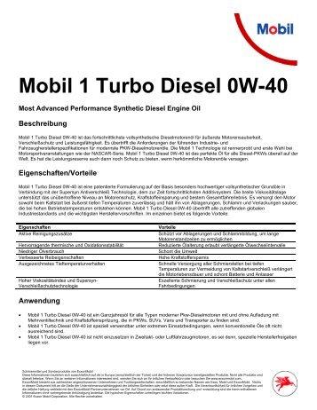 Mobil 1 Turbo Diesel 0W40 (PDF) - Korb Schmierstoffe