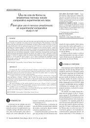 Uso da cola de fibrina na anastomose nervosa: estudo comparativo ...