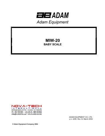 Adam Equipment MIW-20 BABY SCALE - Nova-Tech International, Inc