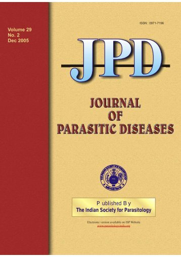 JPD Vol 29 No 2 - The Indian Society for Parasitology
