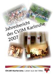 Jahresbericht des CVJM Karlsruhe 2007