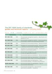 The ISO 14000 family of standards, guides and technical ... - Frareg