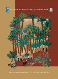 Egypt Human Development Report 2008 - Planipolis - Unesco