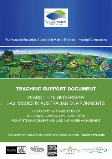 TEACHING SUPPORT DOCUMENT - OceanWatch Australia