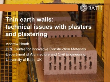 Commercially extruded earth masonry ... - Earth Building UK