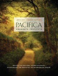 Download Catalog Section - Pacifica Graduate Institute