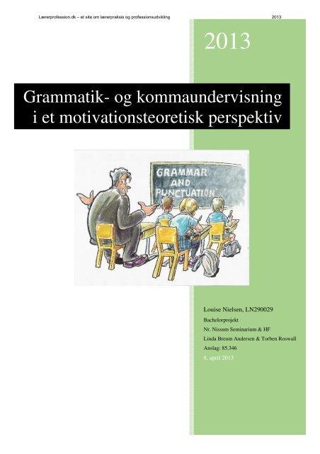 Grammatik- og kommaundervisning i et ... - Folkeskolen