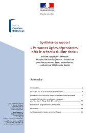 Synthèse du rapport - Centre d'analyse stratégique