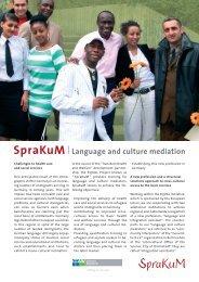 SpraKuM   Language and culture mediation - Transkom