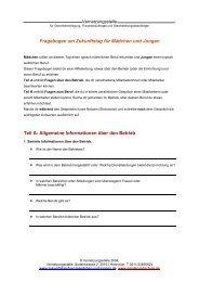 Fragebogen am Zukunftstag für Mädchen und Jungen Teil A ...