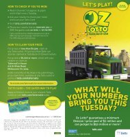 Oz Lotto Lets Play Guide - Tatts Group Limited