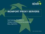 IRONPORT PROXY SERVERS - cesnet