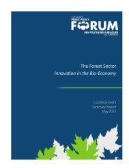 Summary Report - Public Policy Forum