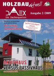 Kundenzeitschrift Holzbau Nr. 2/2009 - DAEX GmbH