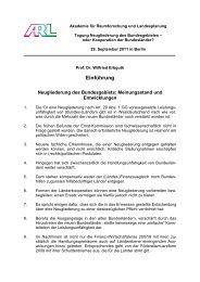 Prof. Dr. Wilfried Erbguth: Neugliederung des Bundesgebiets - ARL