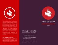 Spa Services Brochure (PDF) - The Sporting Club at The Bellevue
