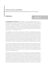 Hyvinvoinnin politiikka - Sosiaalipoliittinen yhdistys ry